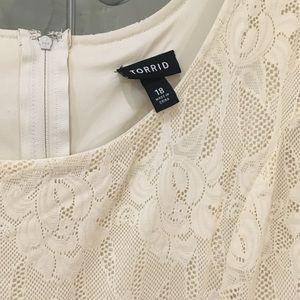 torrid Dresses - Torrid lace V hem dress